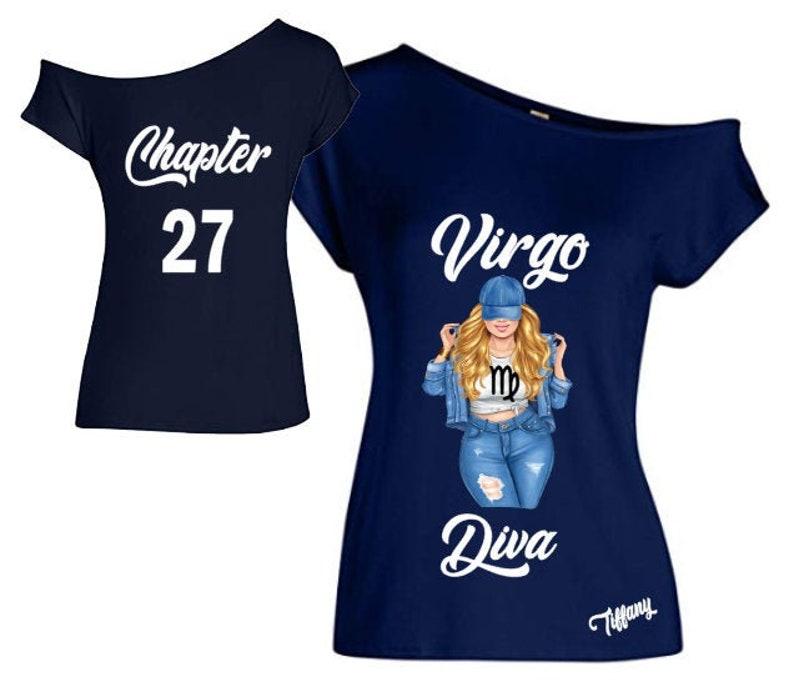 Virgo Diva Birthday Zodiac Shirt-Off the Shoulder Shirt-Curvy image 0