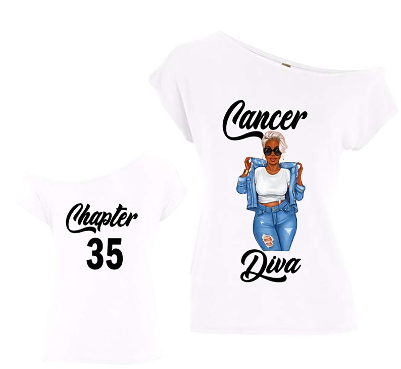 Cancer Diva Birthday Zodiac Shirt-Off the Shoulder Shirt-Curvy image 0