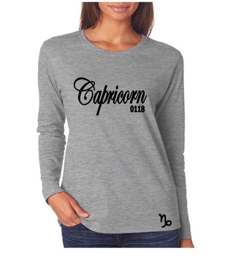 Capricorn Birthday Shirt-Women's Personalized Zodiac image 0
