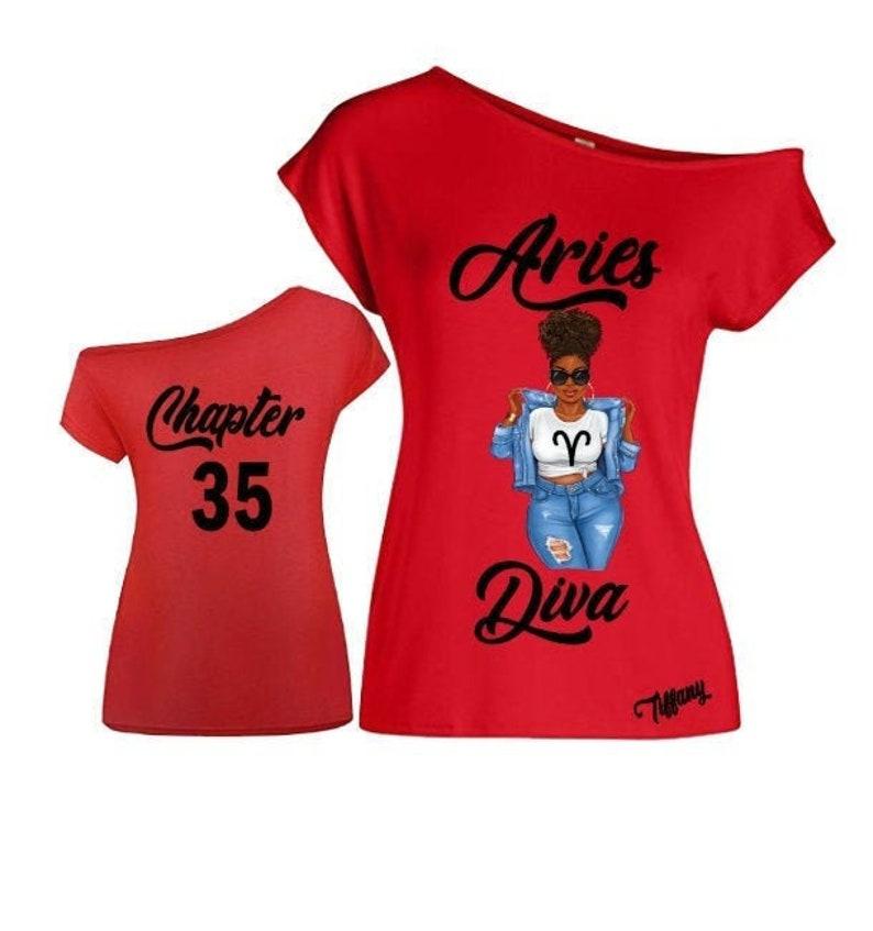 Aries Diva Birthday Zodiac Shirt-Off the Shoulder Shirt-Curvy image 0