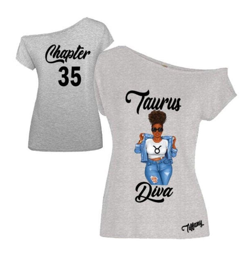Taurus Diva Birthday Zodiac Shirt-Off the Shoulder Shirt-Curvy image 0