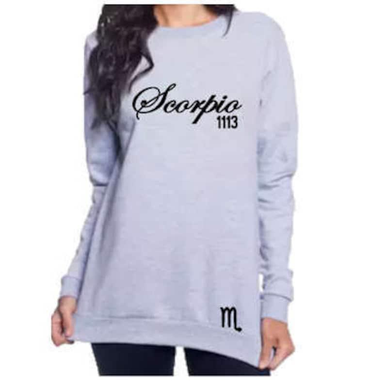 1db5ce7442 Scorpio Women's Zodiac Personalized Birthday Sweatshirt | Etsy