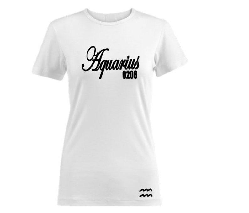 Aquarius Birthday Shirt Women's Personalized image 0