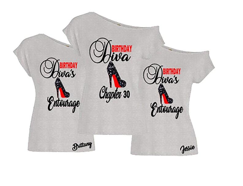 Birthday Diva Off The Shoulder Shirt-Birthday image 0