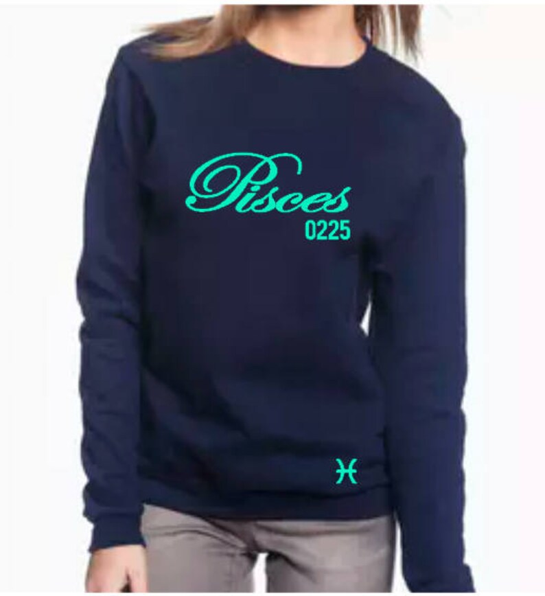 Pisces Women's Zodiac Horoscope Personalized Sweatshirt image 0