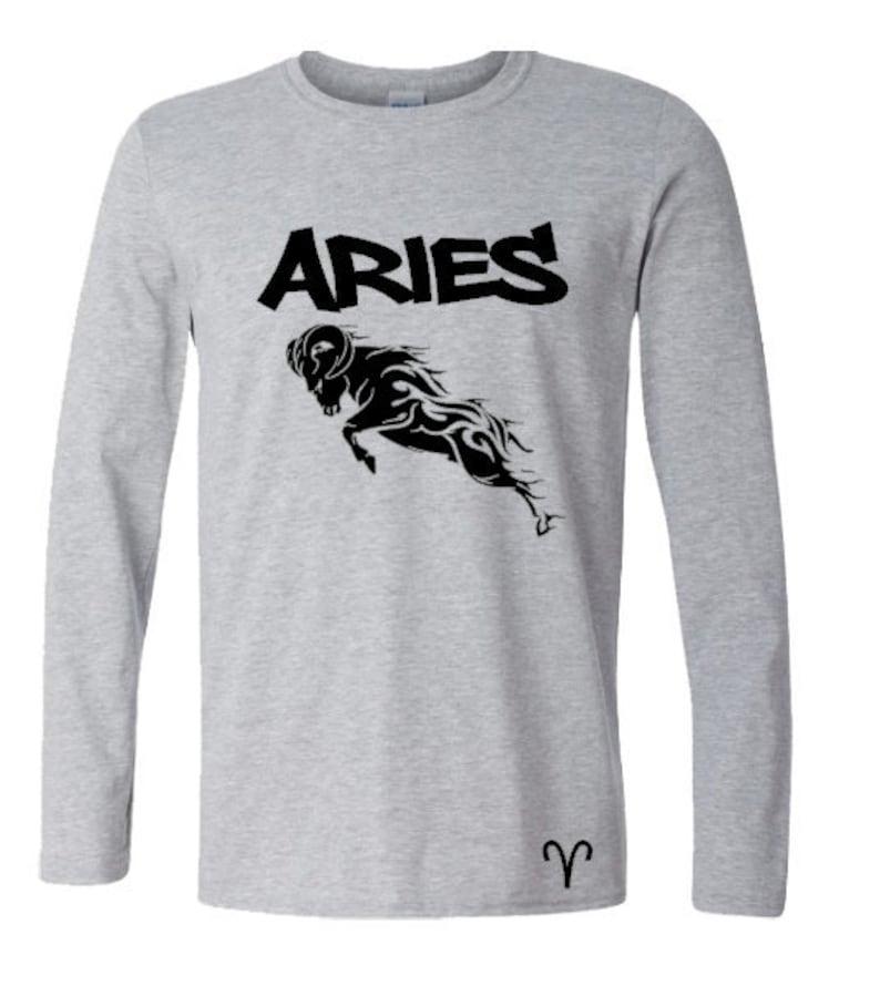 Aries Zodiac Long Sleeve Shirt-Men's Aries Birthday image 0