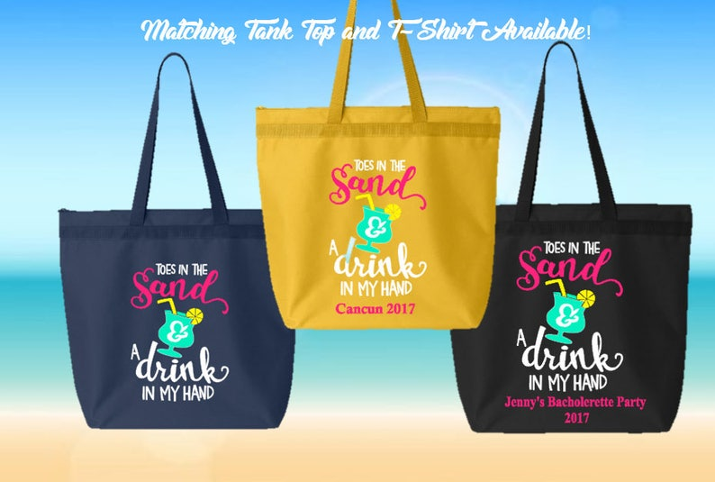 Personalized Tote Bag Great for Bacholerette Party Girl/'s WeekendVacation