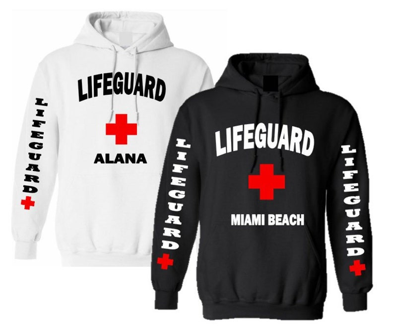 9e8d1b45219 Lifeguard Hoodie Personalized Ladies Mens Unisex Personalized