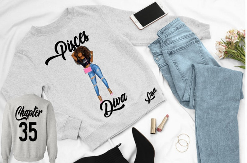 Pisces Diva Birthday Shirt-Pisces Woman Sweatshirt-Feburary image 0