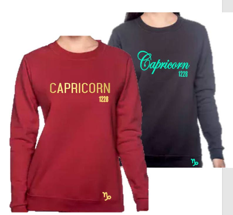 fbad8081de Capricorn Women's Birthday Personalized Sweatshirt | Etsy