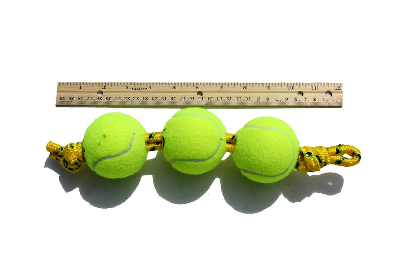 Small Tennis Ball Rope Dog Toy
