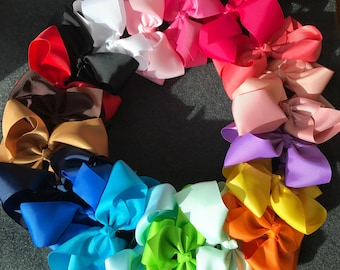 Set of 20 Large Hair Bows, 6 Inch Bows, Large Hair Bows, 6 Inch Hair Bows, Baby Bows, Toddler Bows, Girls Hair Bows, Hair Bows Clips, Big