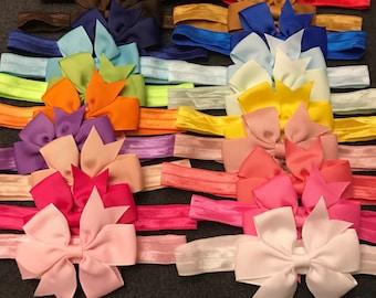 Baby Girl Headband, Baby Bow Headband Set, Newborn Bow Headbands, Infant Bows, 3 Inch Bows, Baby Bow Headband, Baby Girl Bows
