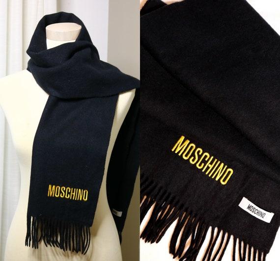 Moschino scarf Moschino wool scarf Moschino black