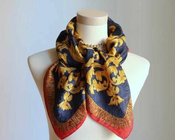 Renato Balestra scarf signed Italy scarf vintage s