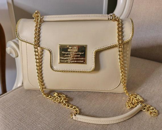 Moschino bag LOVE Moschino bag gold chains bag sig