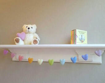Rainbow Baby Garland : Heart Rainbow Garland