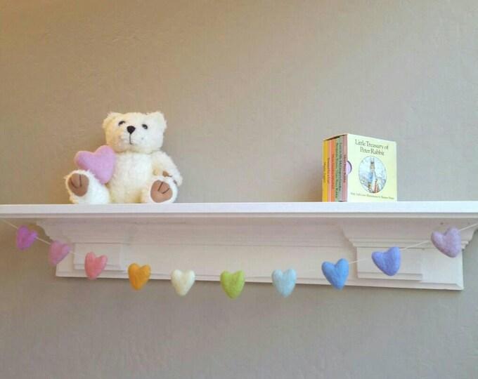Rainbow Baby Garland : Heart Rainbow Garland