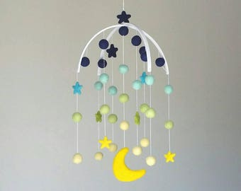Baby Mobile : Deluxe Star and Moon Mobile