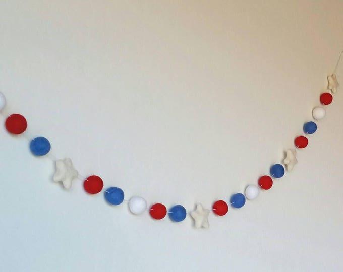 Patriotic Garland : Fourth of July Garland
