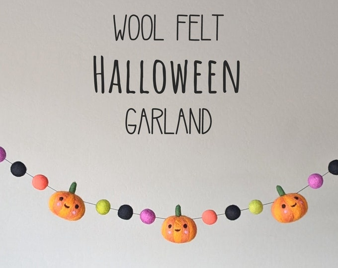 Whimsical Halloween Garland : Pumpkin Garland