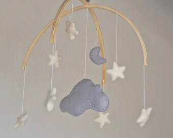 Baby Mobile : Cloud Baby Mobile - mobile with Cloud, moon and stars