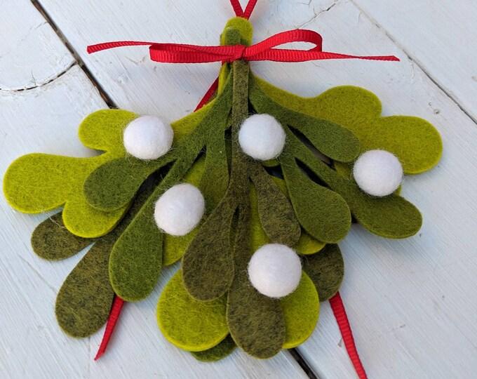 Wool Felt Mistletoe : Mistletoe Decor