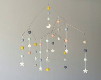 Baby Mobile : Industrial Baby Mobile in gender neutral palette