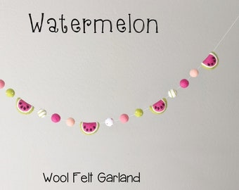Wool Felt Garland : Wool Felt Watermelon garland