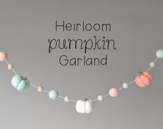 Fall Pumpkin Garland : Felt Garland for Autumn