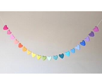 Rainbow Garland : Heart Rainbow Garland