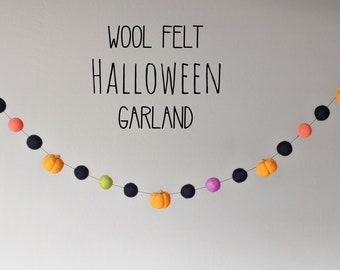 Pumpkin Garland : Felt Garland for Halloween