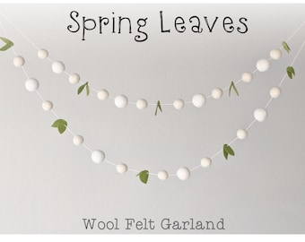 Spring Garland : Felt Ball Garland for Spring