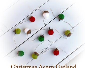Christmas Acorn Garland