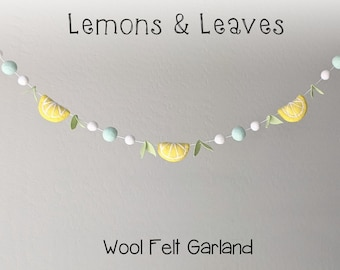 Spring Garland : Felt Lemon Garland for Spring