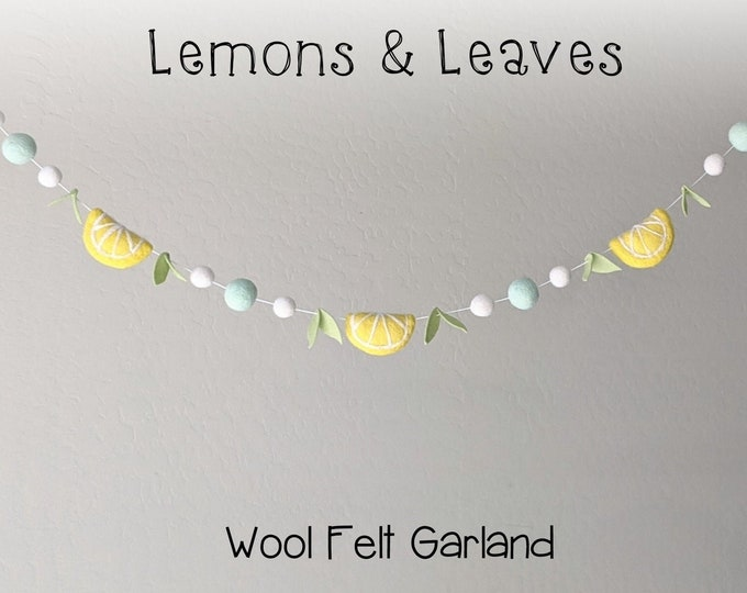 Spring Garland : Felt Lemon Garland for Spring