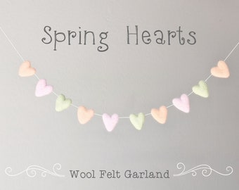 Wool Felt Heart Garland : Mother's Day Garland