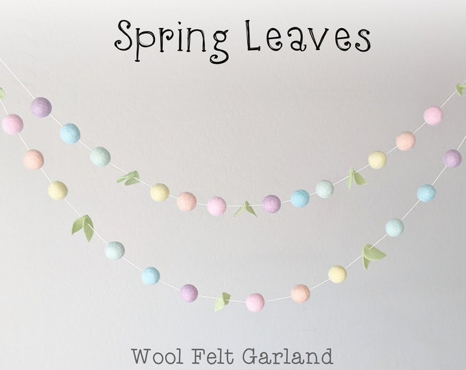 Spring Garland : Felt Ball Garland for Spring