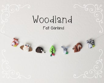 Whimsical Woodland Garland: Felt Woodland Animals