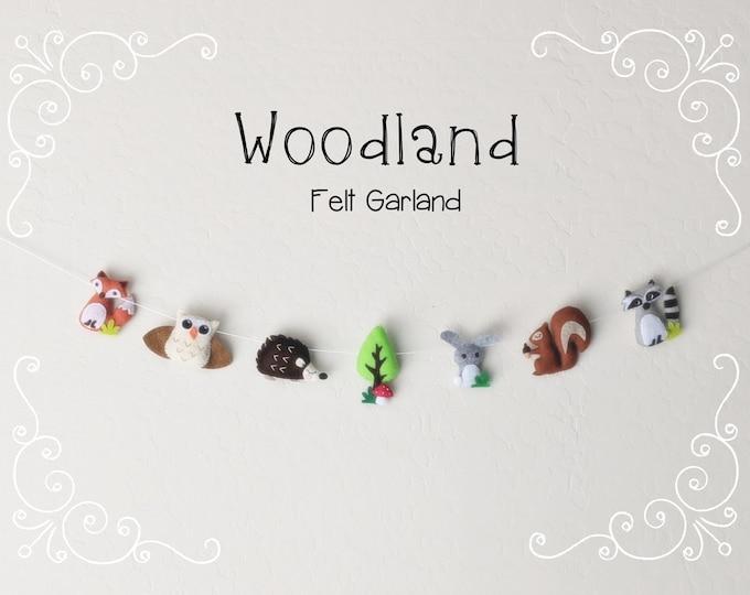 Whimsical Woodland Garland: Felt Woodland Animals