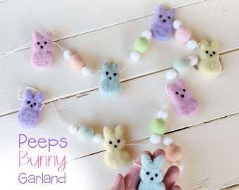 Felt Bunny Garland : Felt Garland with Peeps Bunnies