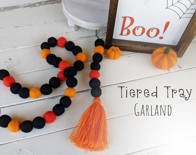 Tiered Tray Garland : Wool Felt Garland for Halloween