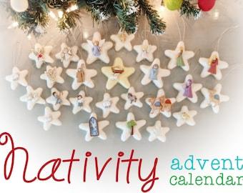 Nativity Advent Calendar : Christmas Advent Ornaments