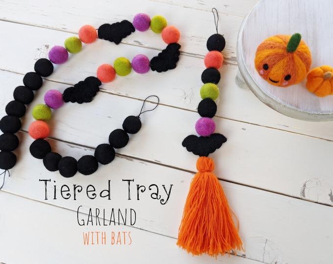 Tiered Tray Garland : BATS Garland for Halloween