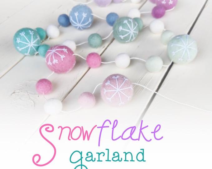 Snowflake Christmas Garland : Sugarplum Garland