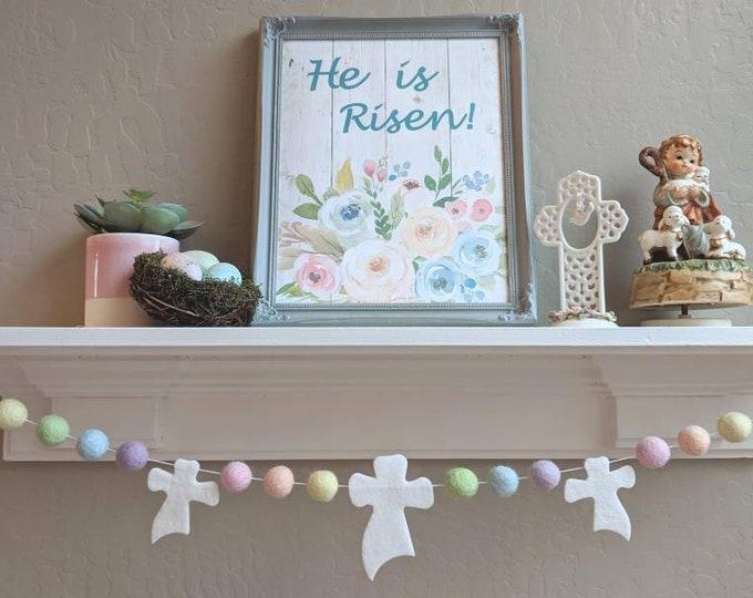 Pom Pom Easter Garland : Pastel Easter Garland