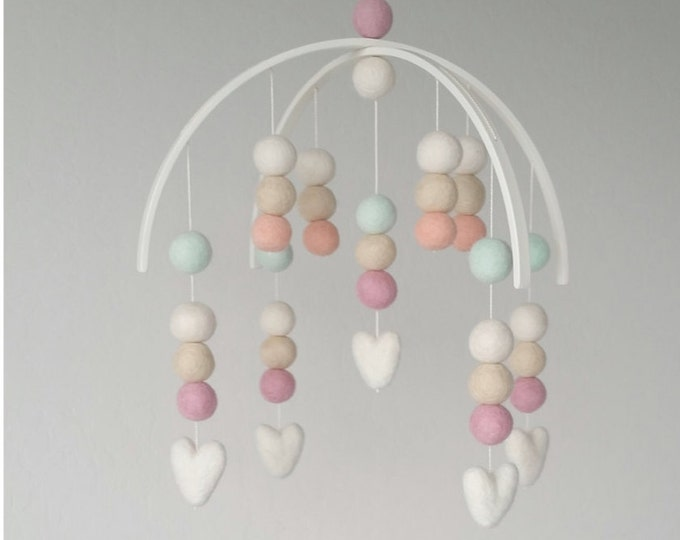 Baby Mobile : Shabby Chic Heart Mobile