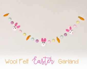 Felt Bunny Garland : Felt Garland with Bunnies and Carrots