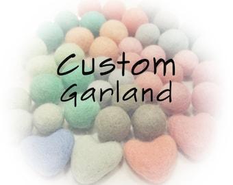 Custom Felt Pom Pom Garland