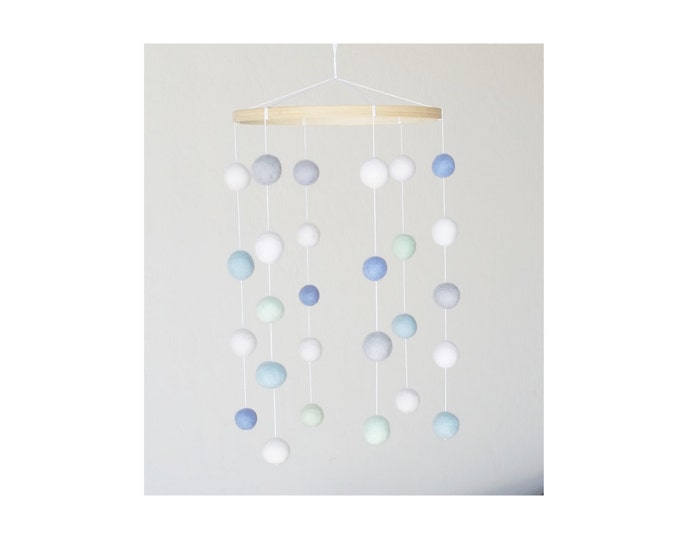 Baby Mobile : Classic Modern in sea glass tones